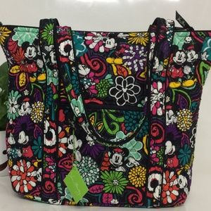 Disney Vera Bradley Vera Tote Mickey Magical Bloom